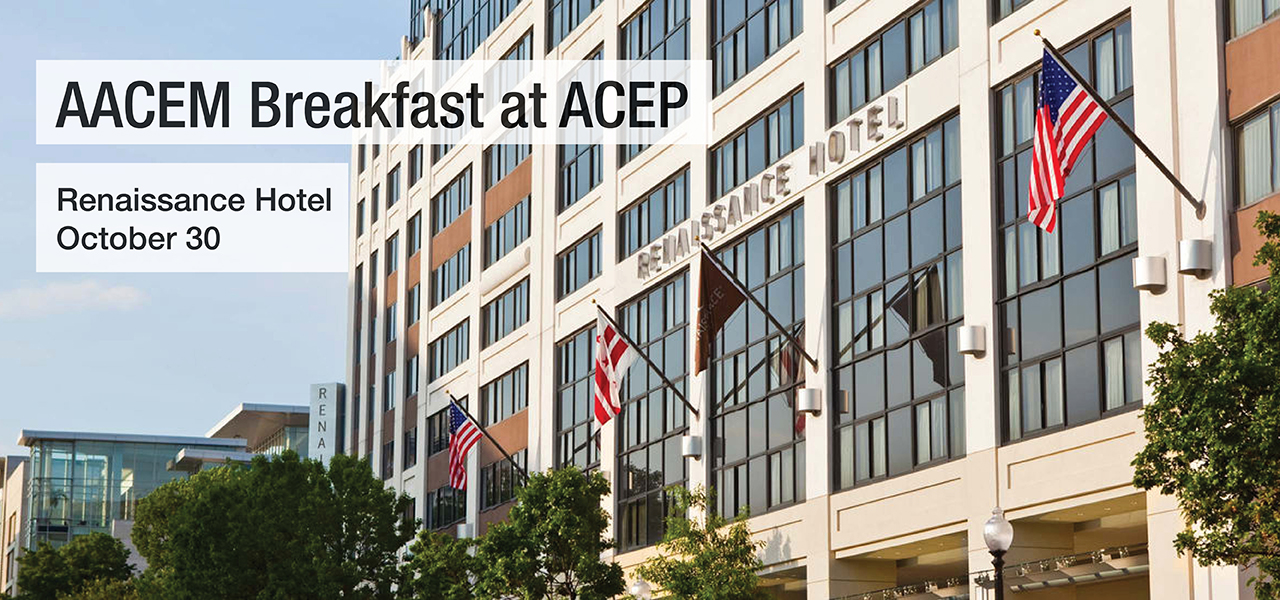 AACEM Breakfast at ACEP 1280x600