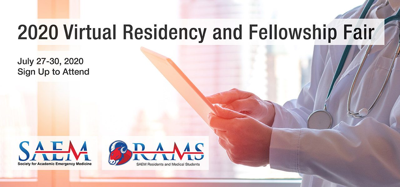 SAEM 2020 Virtual Residency and Fellowship Fair SignUp 1280x600