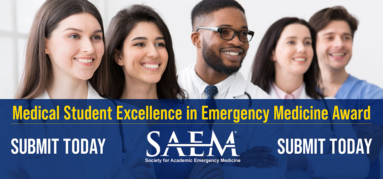 SAEM Med Student Excellence in EM Awards 1280x600