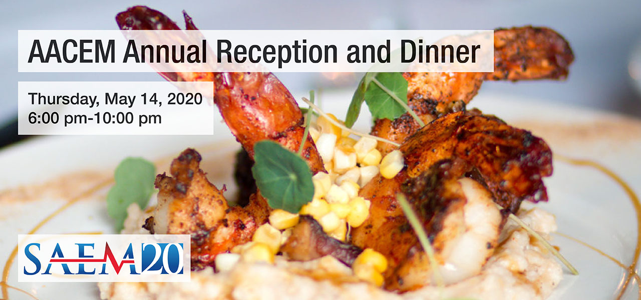 SAEM20 AACEM Annual Reception and Dinner 1280x600