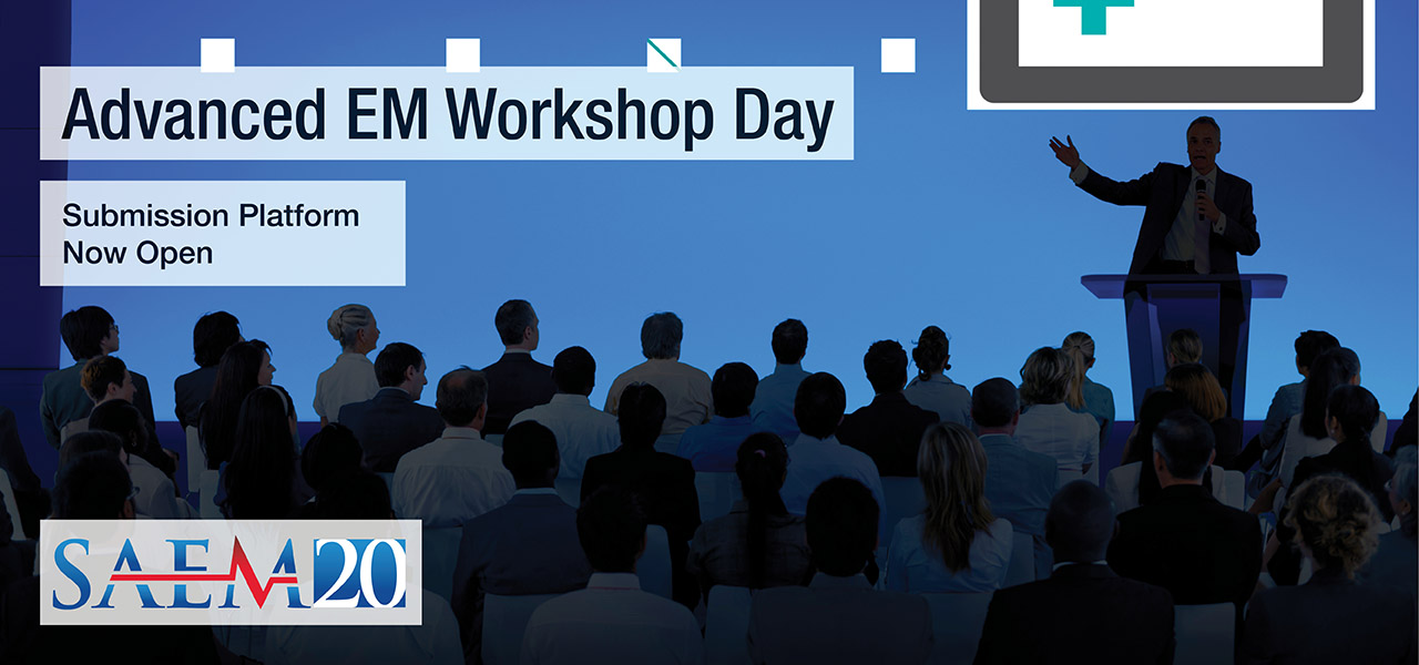 SAEM20 Advanced EM Workshop now open 1280x600